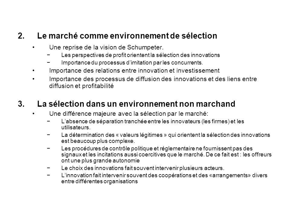 Le marché comme environnement de sélection