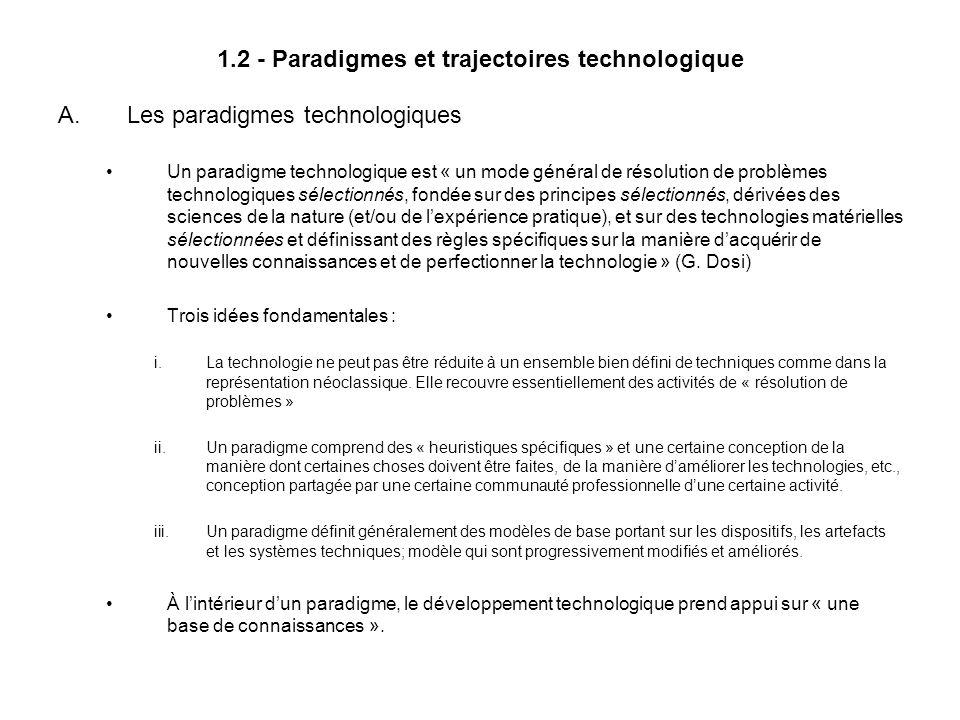 1.2 - Paradigmes et trajectoires technologique