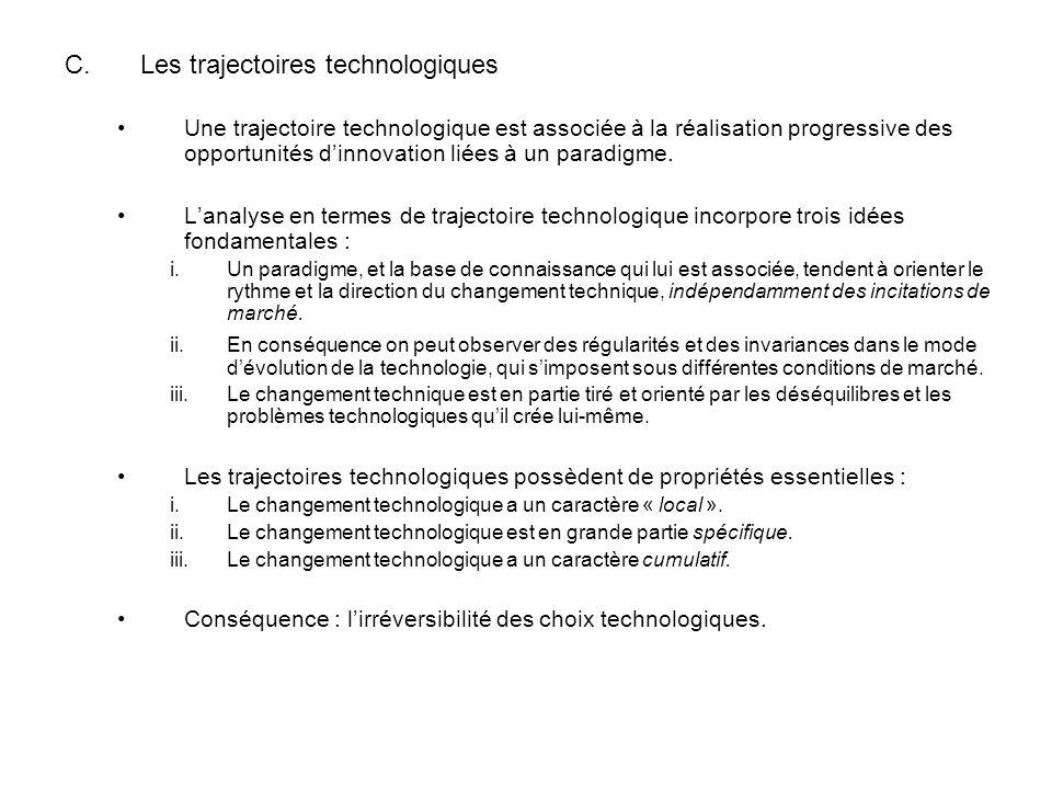 Les trajectoires technologiques