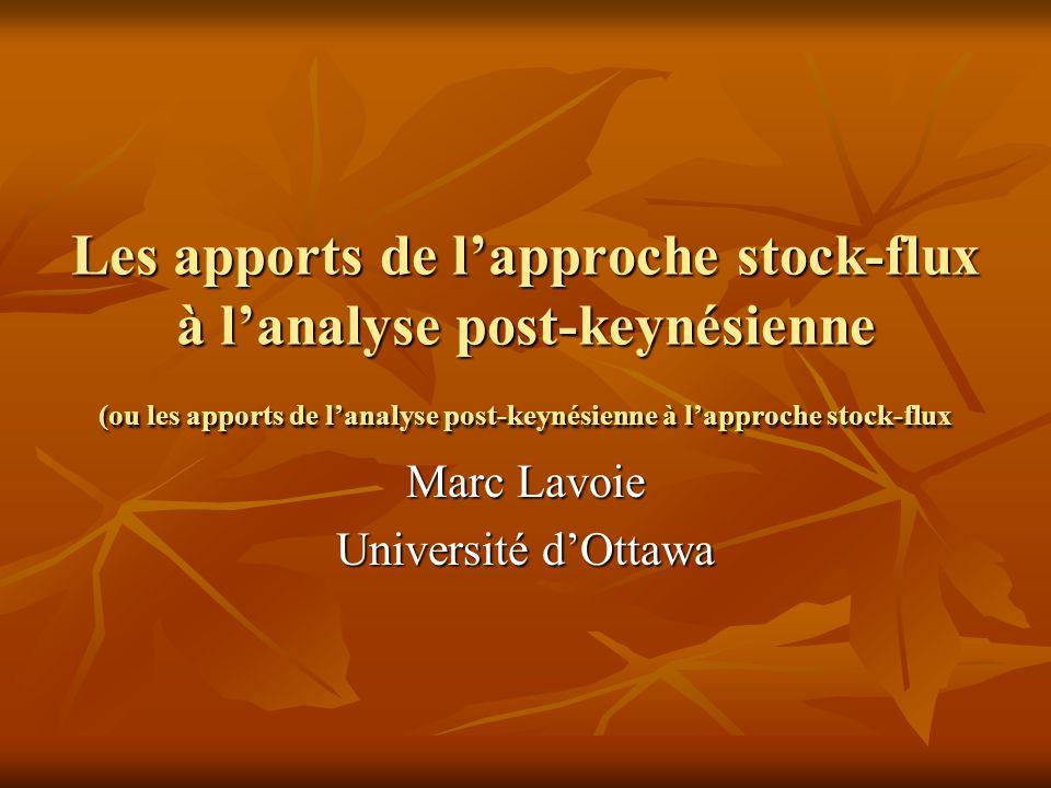 Marc Lavoie Université d'Ottawa