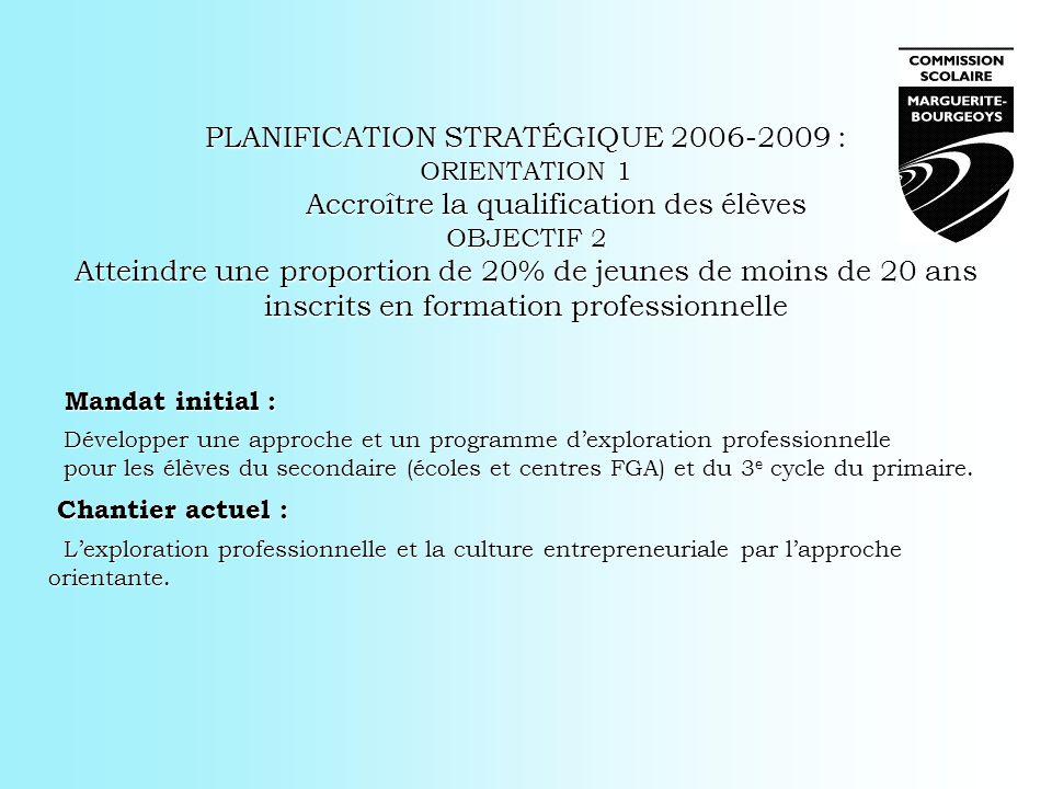 PLANIFICATION STRATÉGIQUE 2006-2009 :