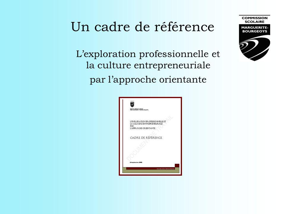 Un cadre de référence L'exploration professionnelle et