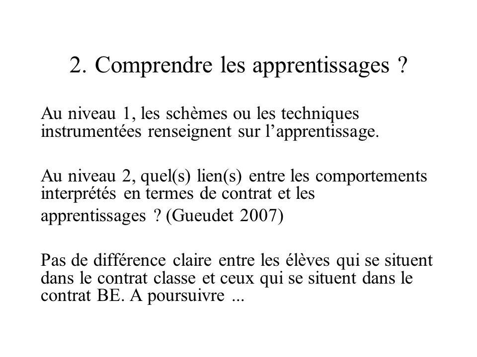2. Comprendre les apprentissages