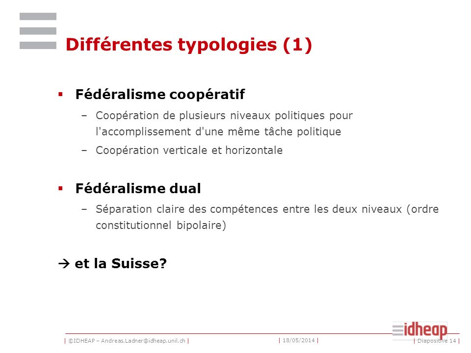 Différentes typologies (1)
