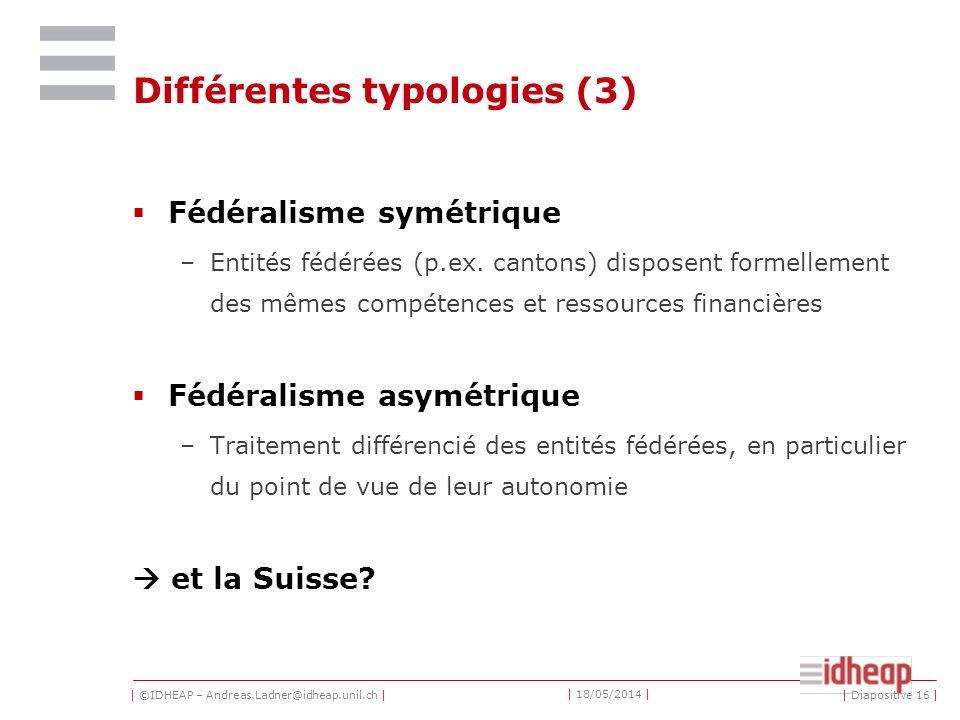 Différentes typologies (3)