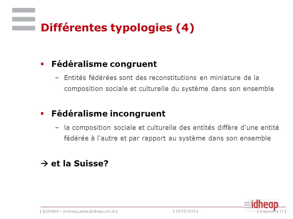 Différentes typologies (4)