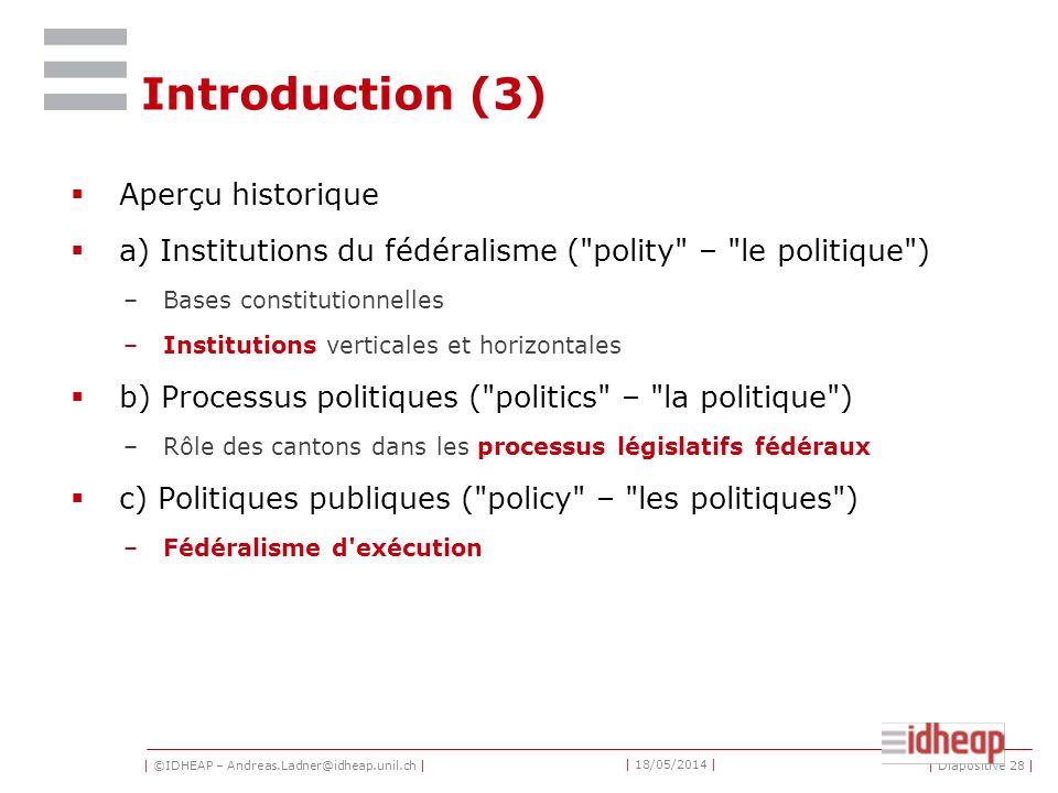 Introduction (3) Aperçu historique