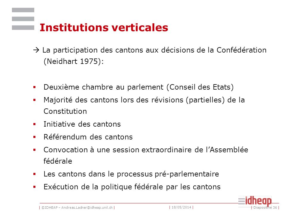 Institutions verticales