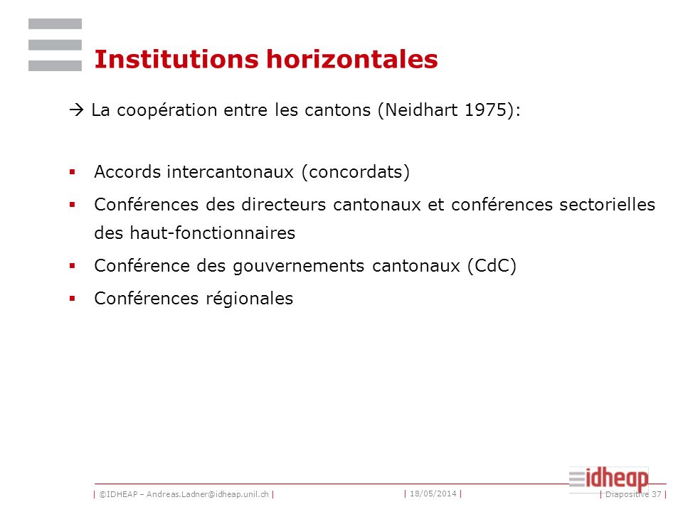 Institutions horizontales