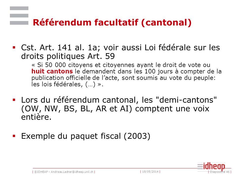 Référendum facultatif (cantonal)