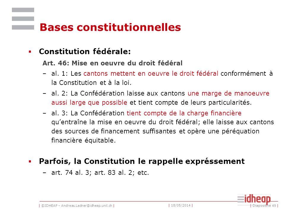 Bases constitutionnelles