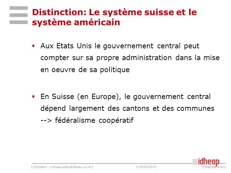 Distinction: Le système suisse et le système américain