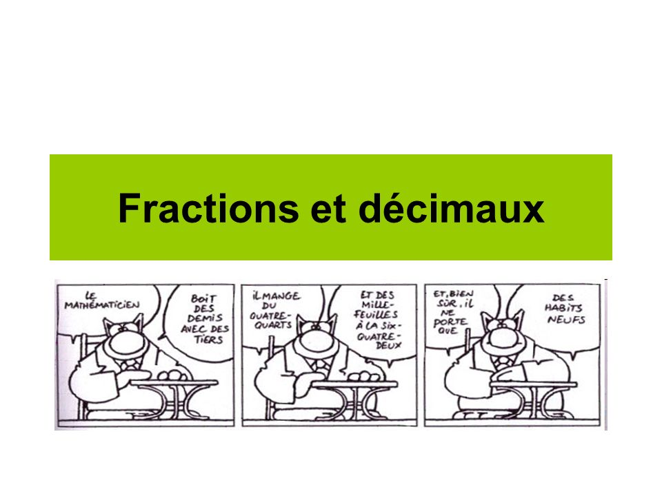 Fractions et décimaux