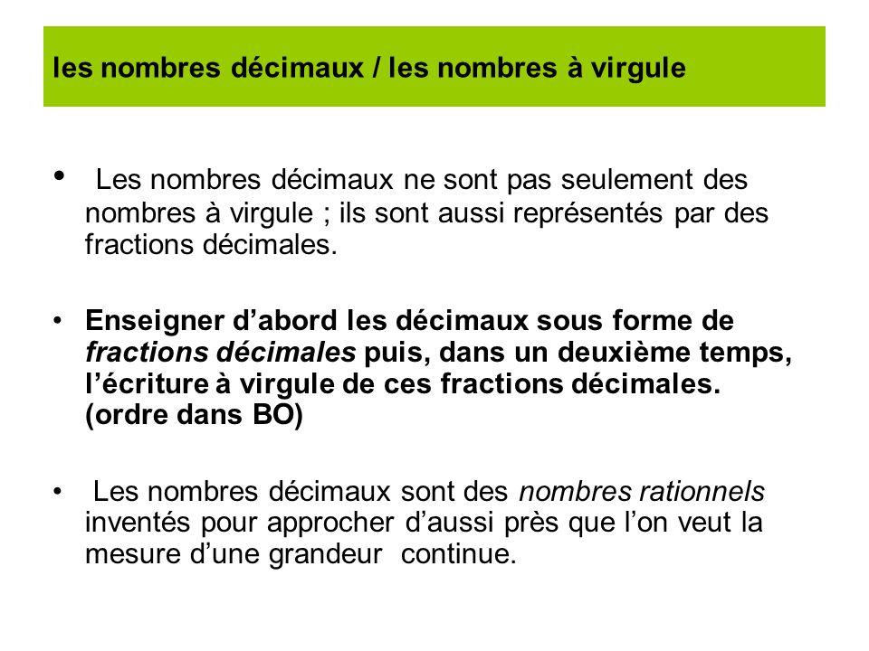 les nombres décimaux / les nombres à virgule