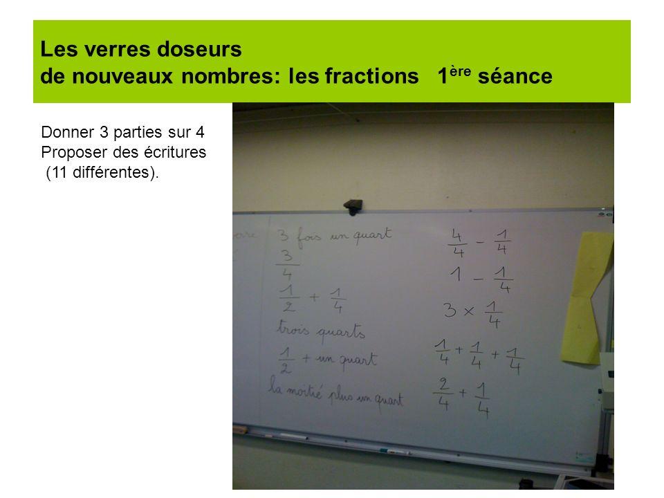 Les verres doseurs de nouveaux nombres: les fractions 1ère séance