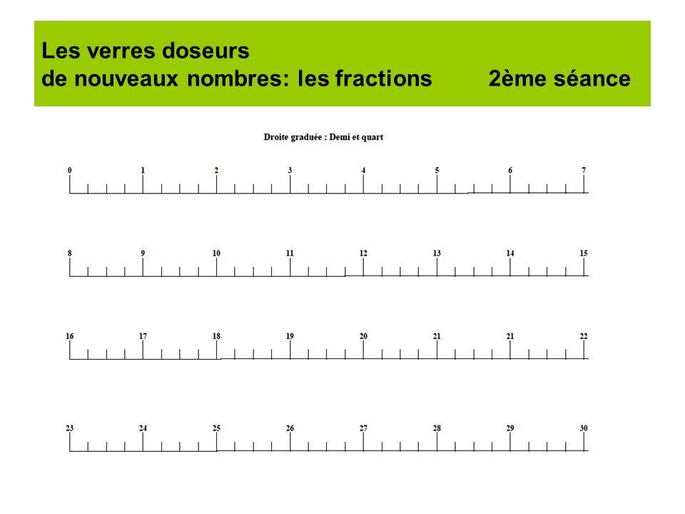 Les verres doseurs de nouveaux nombres: les fractions 2ème séance