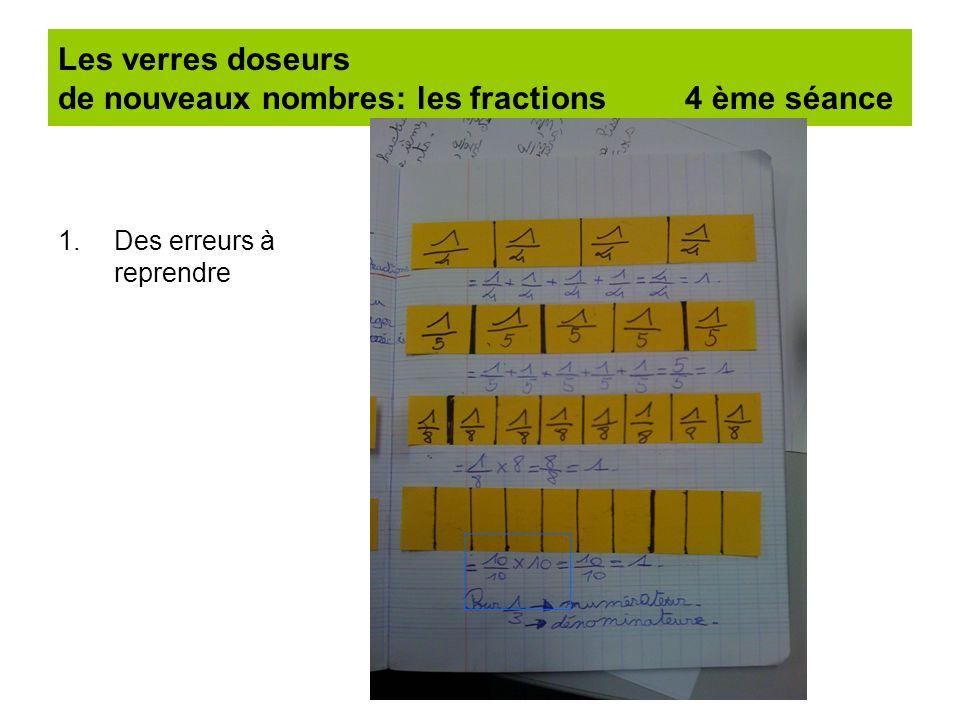 Les verres doseurs de nouveaux nombres: les fractions 4 ème séance