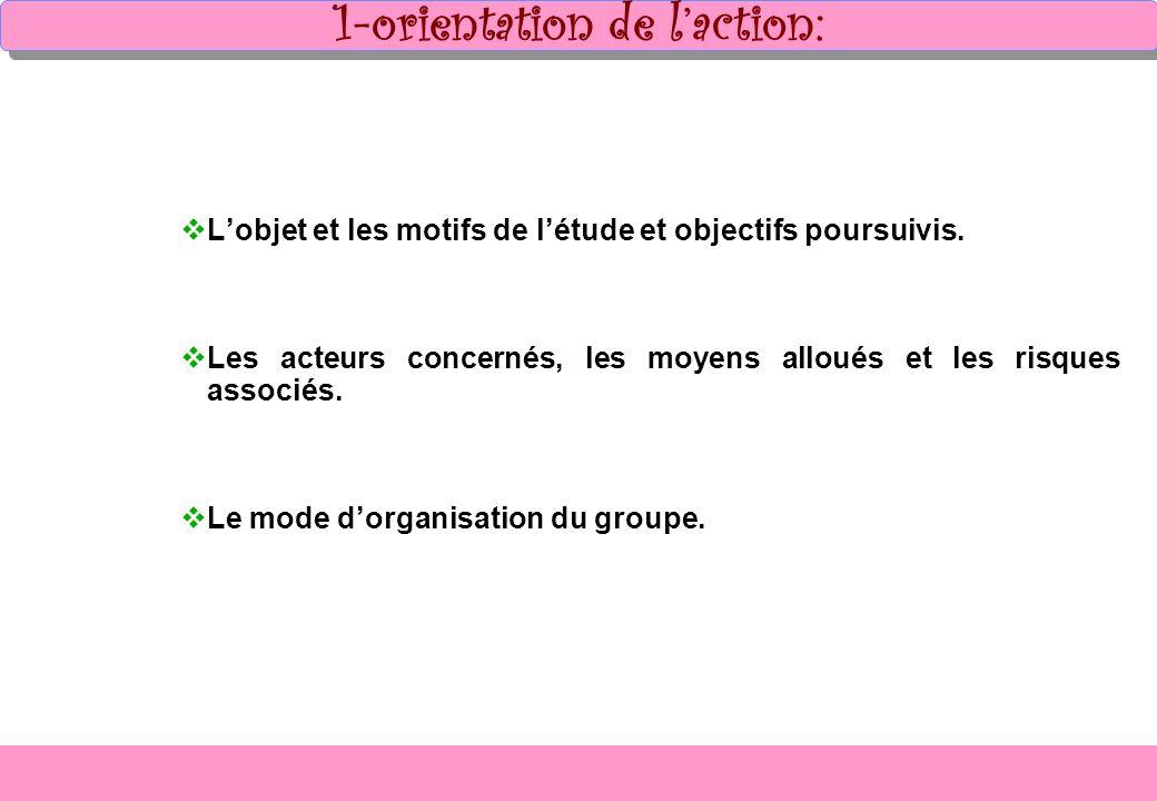 1-orientation de l'action: