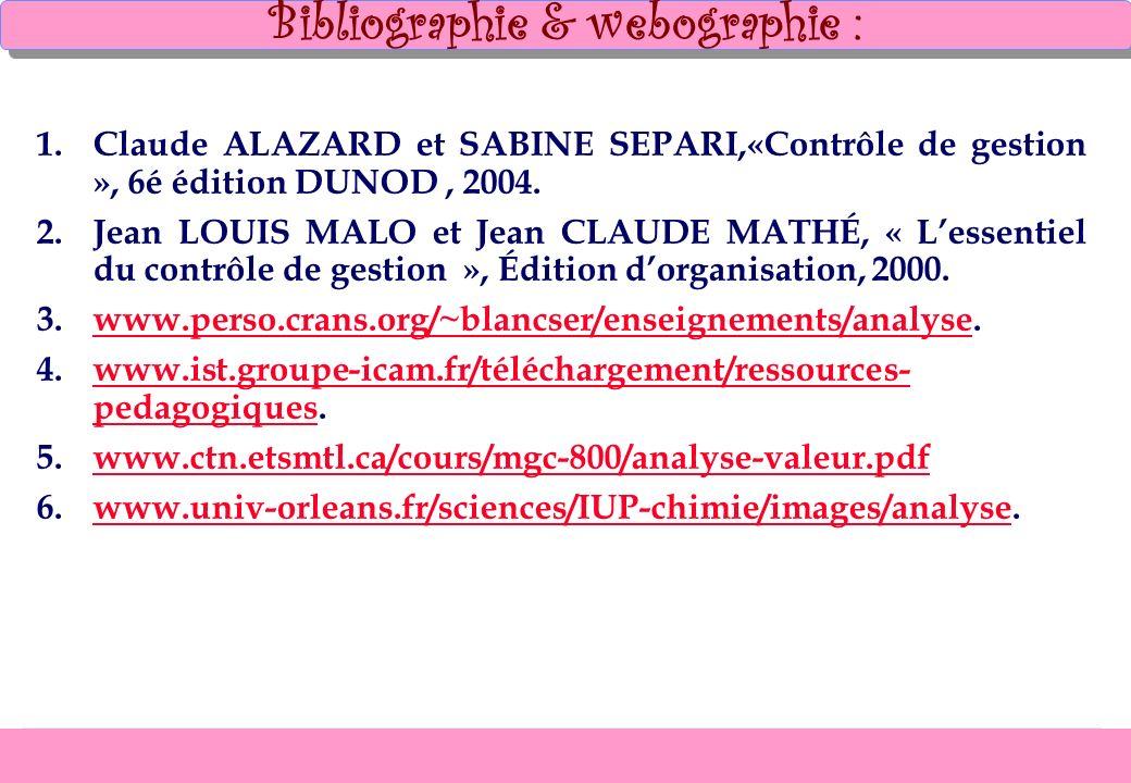 Bibliographie & webographie :