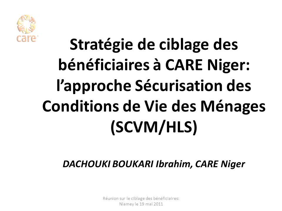 Réunion sur le ciblage des bénéficiaires: Niamey le 19 mai 2011