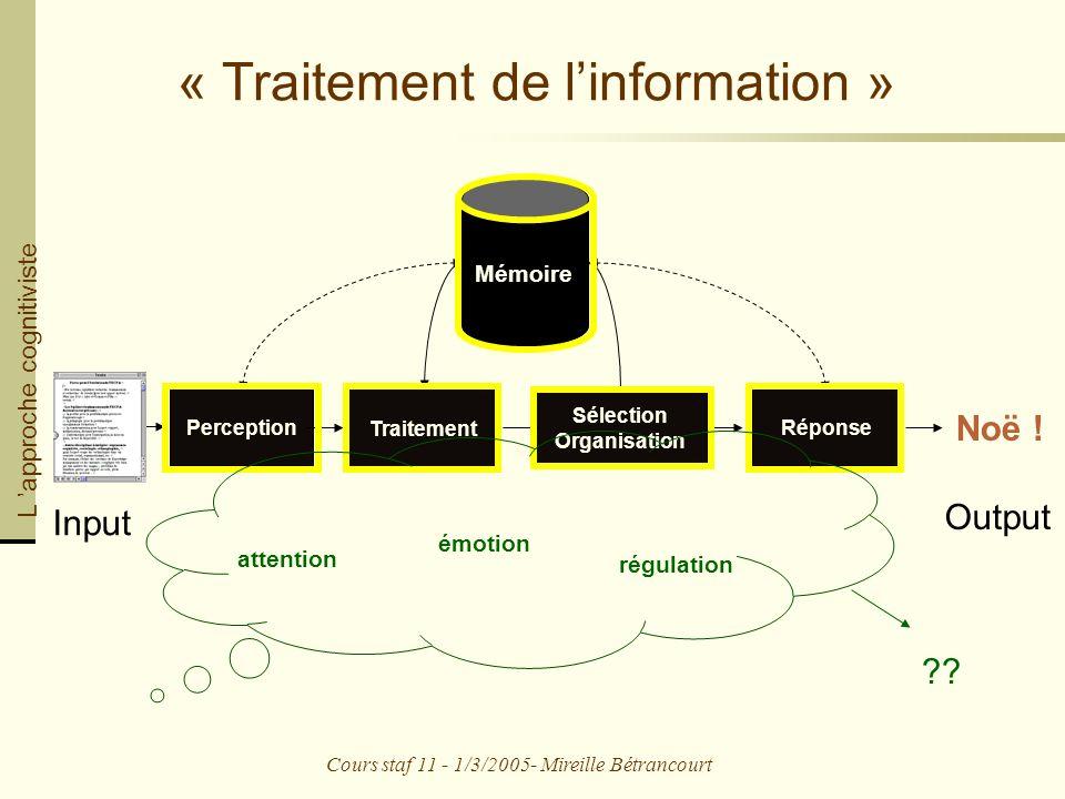 « Traitement de l'information »