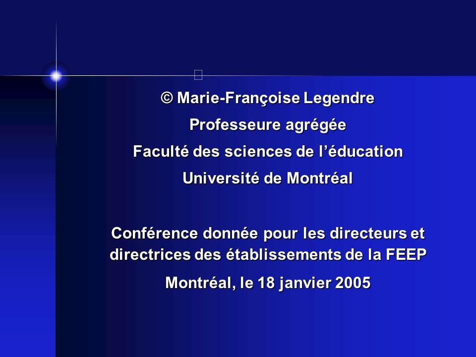 © Marie-Françoise Legendre Professeure agrégée