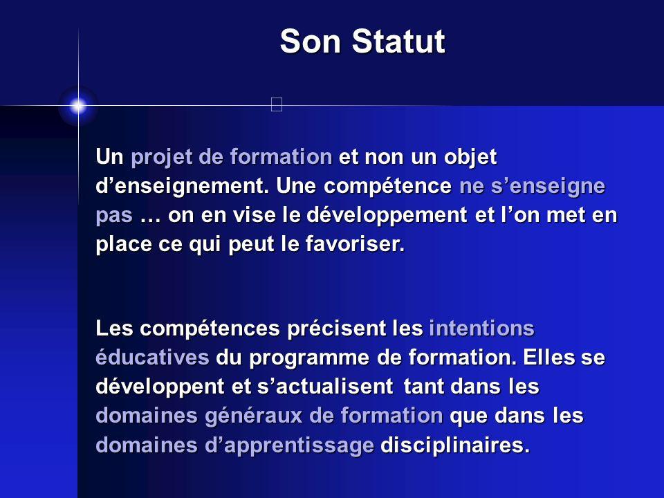 Son Statut