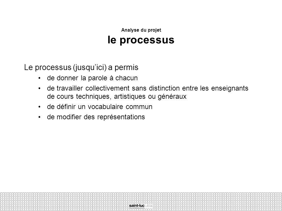 Analyse du projet le processus
