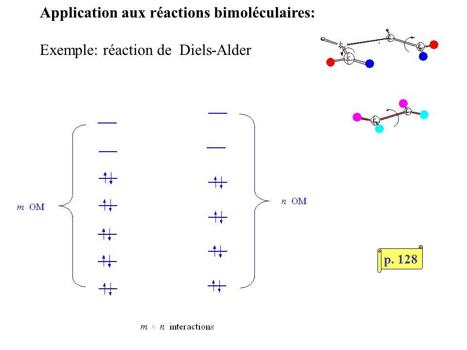Application aux réactions bimoléculaires: