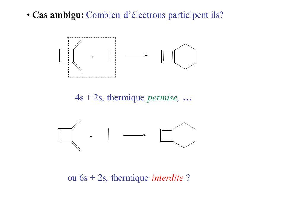 Cas ambigu: Combien d'électrons participent ils