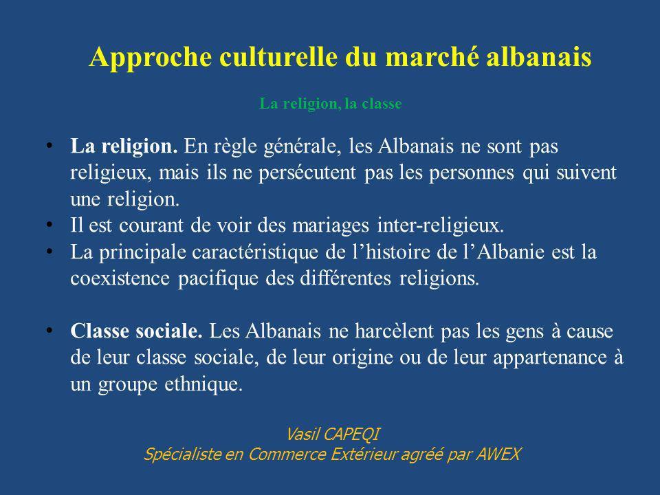 Approche culturelle du marché albanais