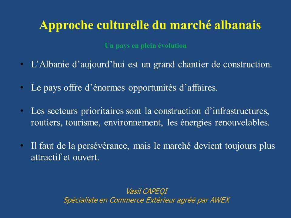 Approche culturelle du marché albanais Un pays en plein évolution