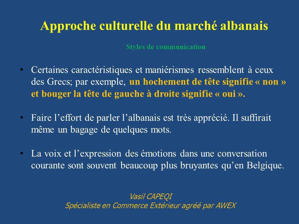 Approche culturelle du marché albanais Styles de communication