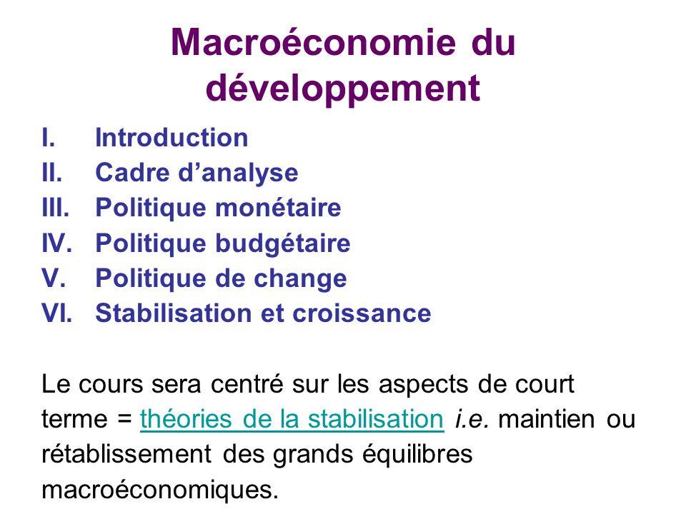 Macroéconomie du développement