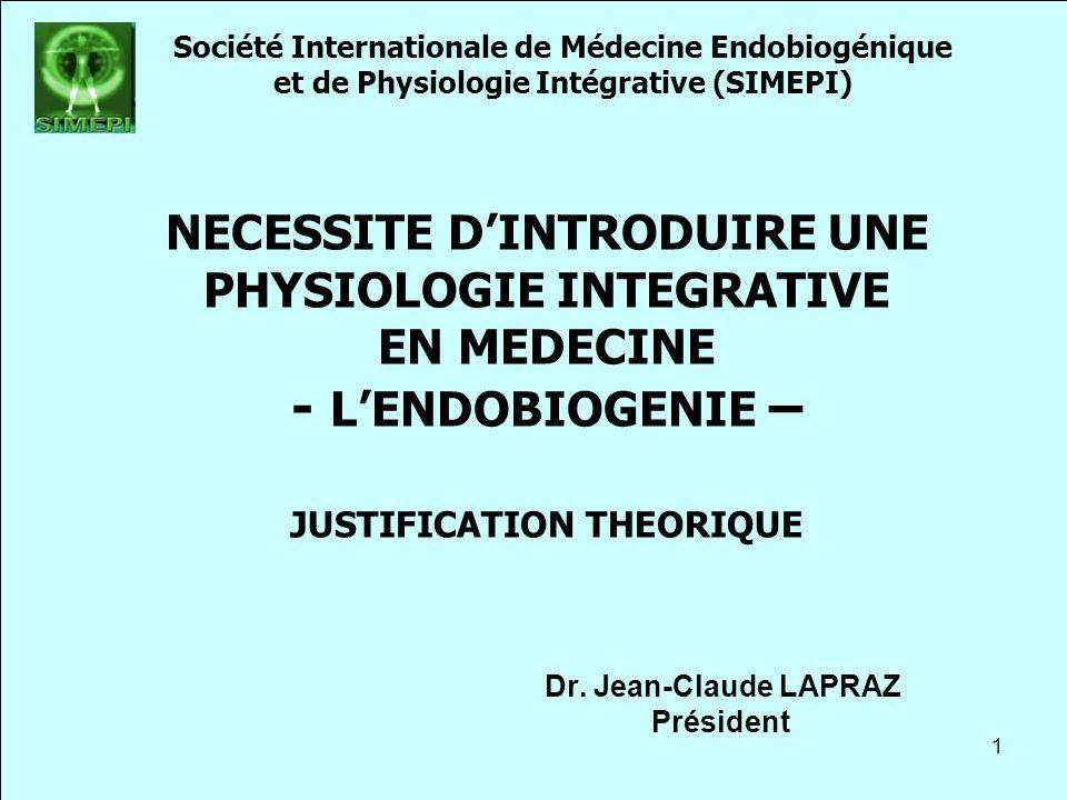 Titre du cours Société Internationale de Médecine Endobiogénique. et de Physiologie Intégrative (SIMEPI)