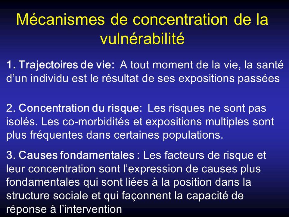 Mécanismes de concentration de la vulnérabilité