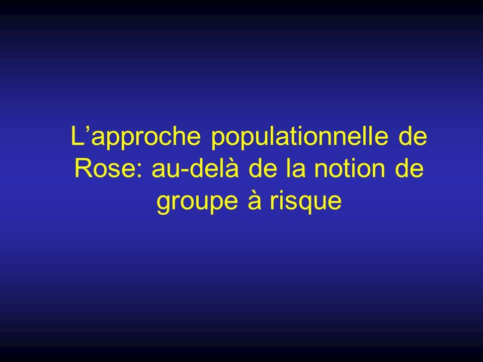 L'approche populationnelle de Rose: au-delà de la notion de groupe à risque