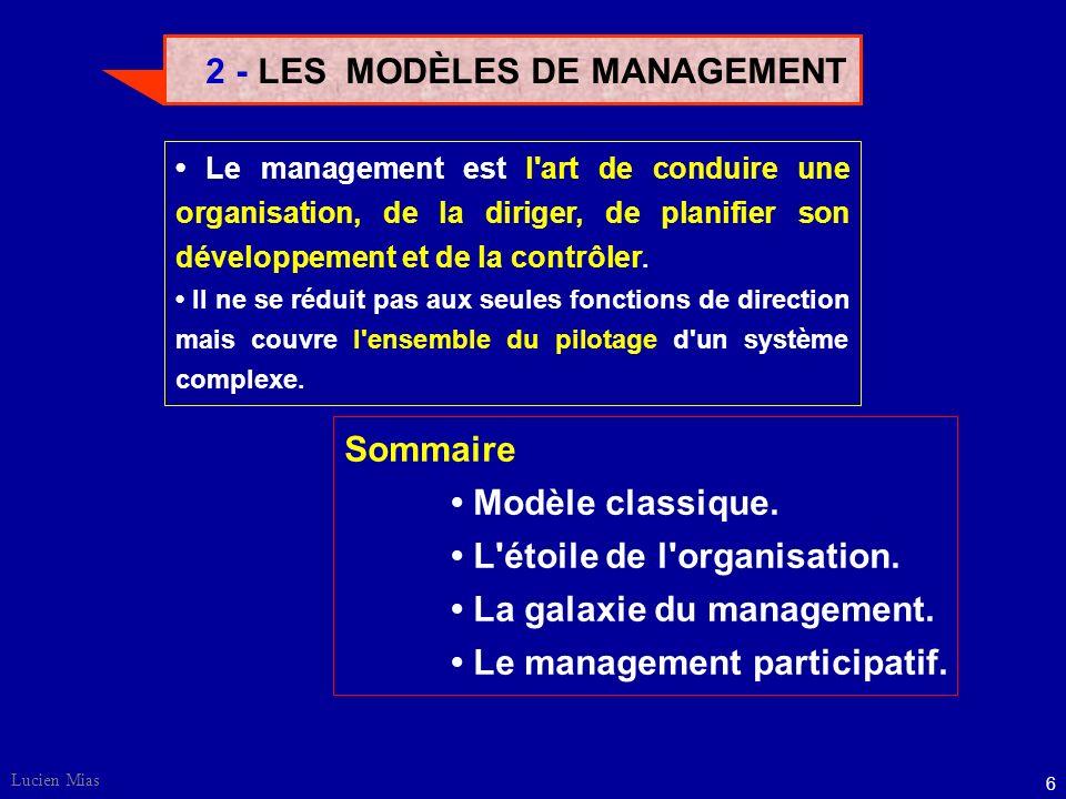 2 - LES MODÈLES DE MANAGEMENT