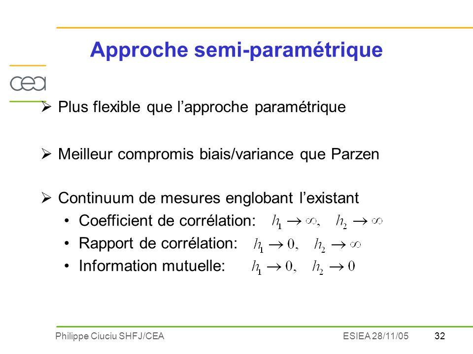 Approche semi-paramétrique