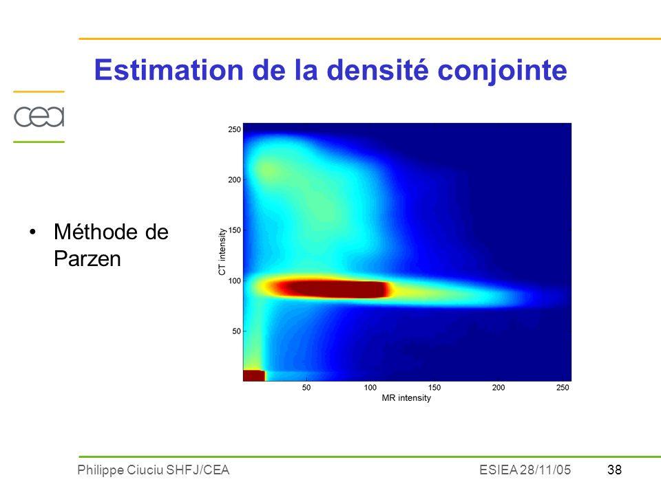 Estimation de la densité conjointe