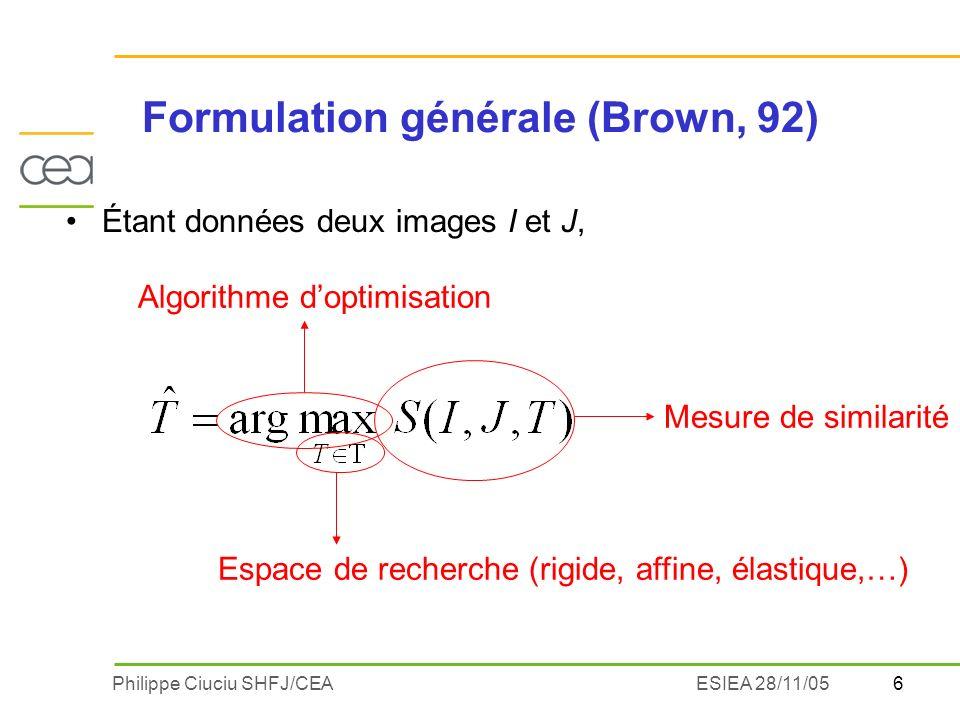 Formulation générale (Brown, 92)