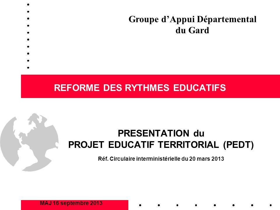 REFORME DES RYTHMES EDUCATIFS