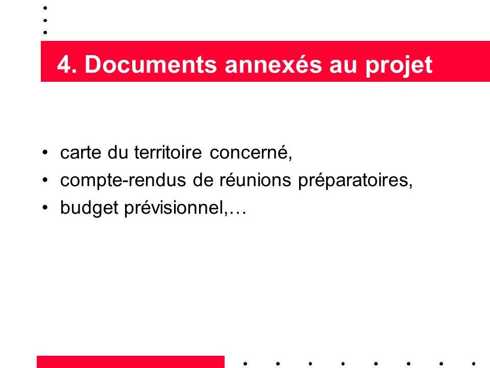 4. Documents annexés au projet