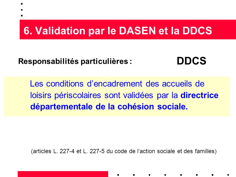 6. Validation par le DASEN et la DDCS
