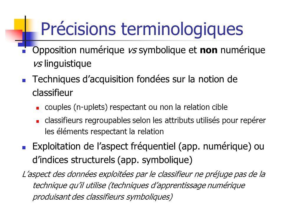 Précisions terminologiques