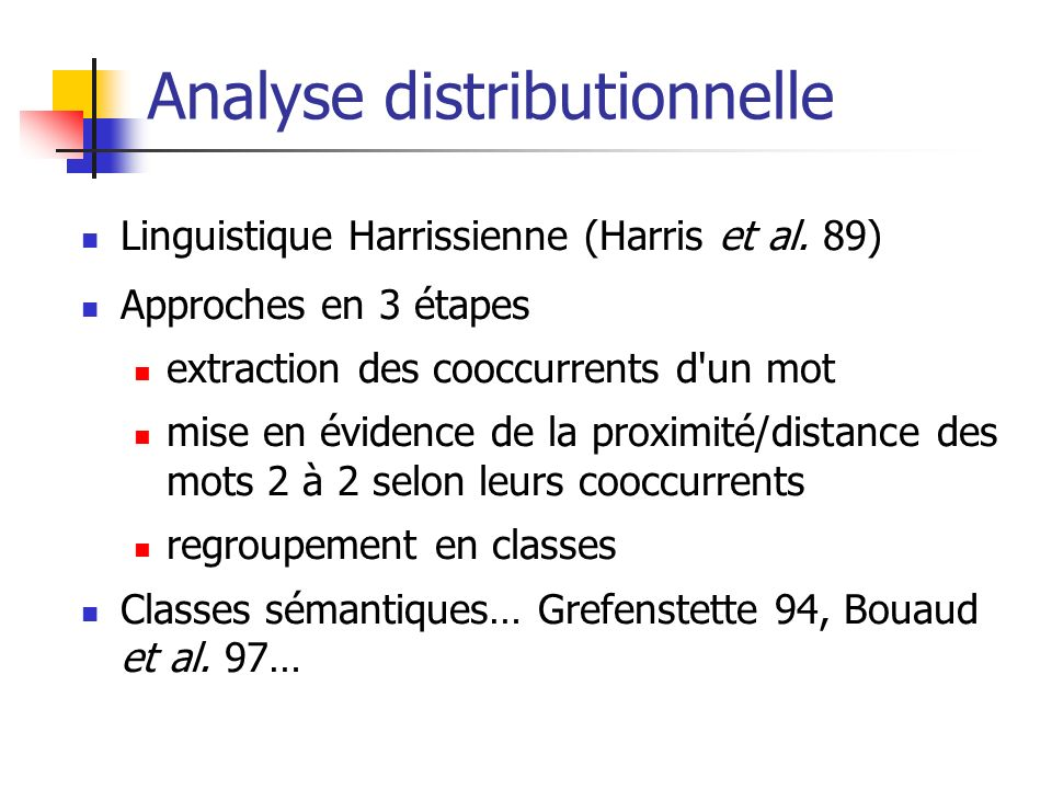 Analyse distributionnelle