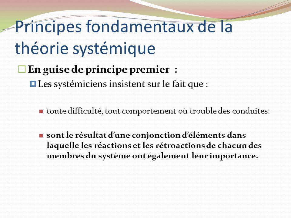 Principes fondamentaux de la théorie systémique