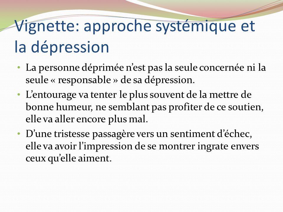 Vignette: approche systémique et la dépression