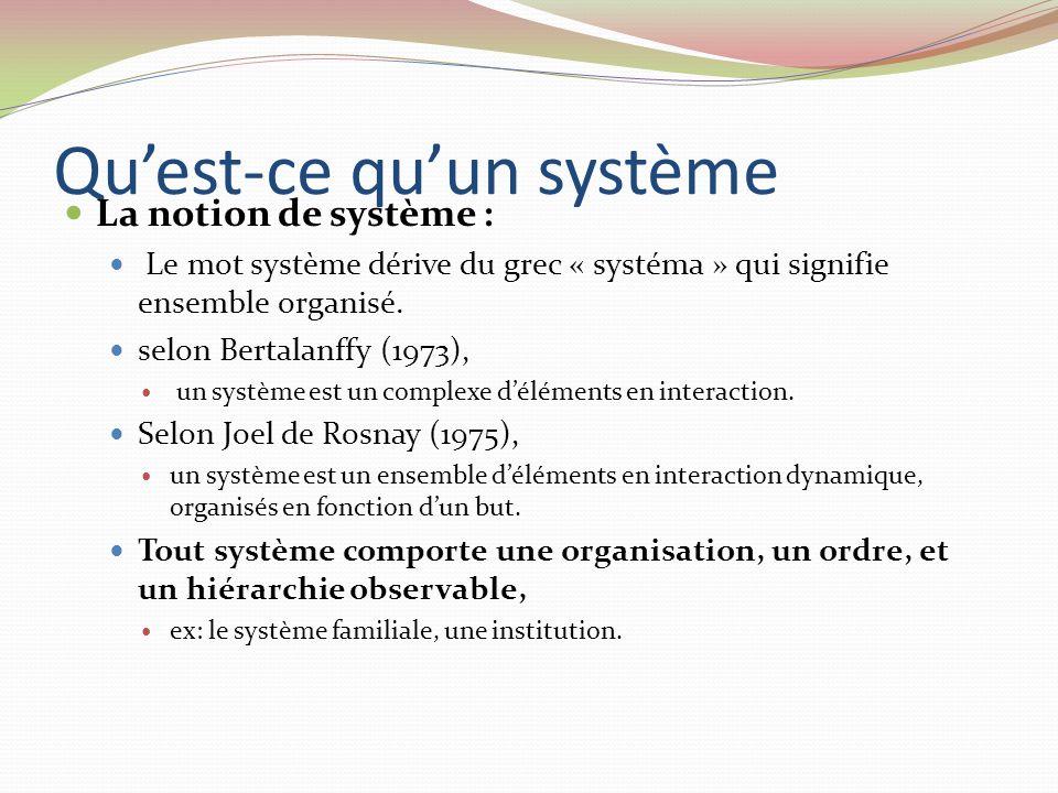 Qu'est-ce qu'un système