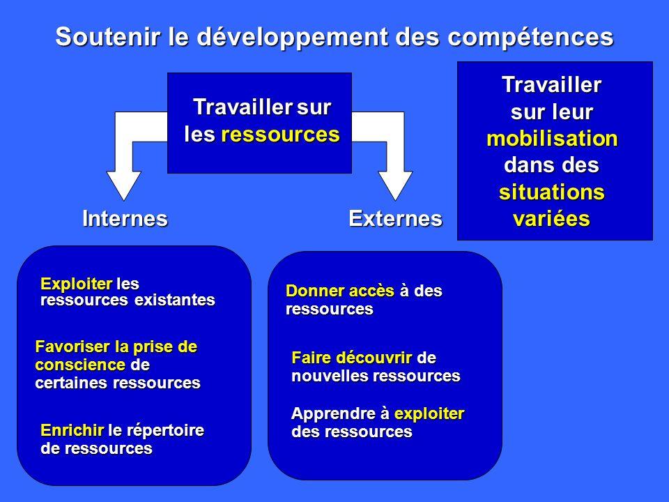 Soutenir le développement des compétences